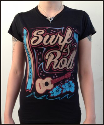 T-Shirt Donna Six Gun Surf & Roll