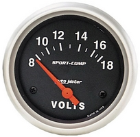 "voltmetro ""SPORT COMP"" diam 67mm 8-18 volts"