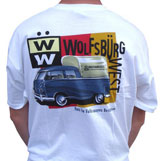 "tee-shirt ""WOLFSBURG WEST BUS"" taglia XL"